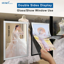 A4 Magnetic PVC Wall Mounted Self-adhesive Double Side Fridge Advertising Certificate Photo Frame Poster Sign Holder