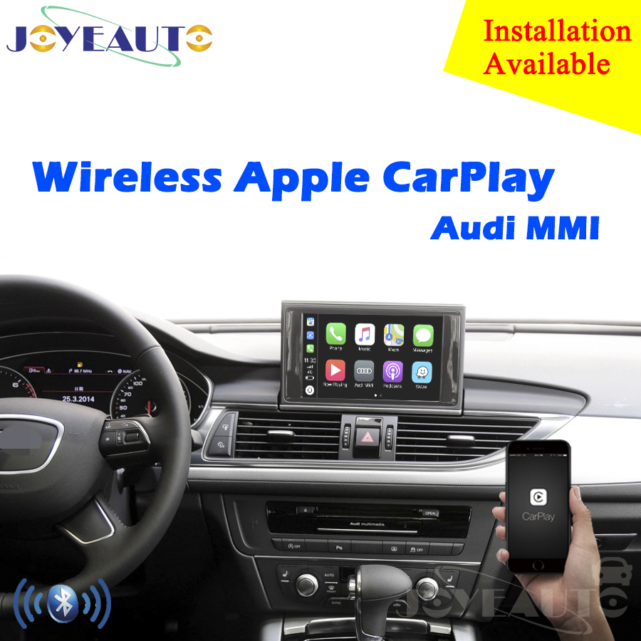 Aftermarket OEM Sans Fil Apple CarPlay A1 A3 A4 A5 A6 A7 A8 Q3 Q5 Q7 MMI Solution Rénovation avec caméra de recul pour Audi