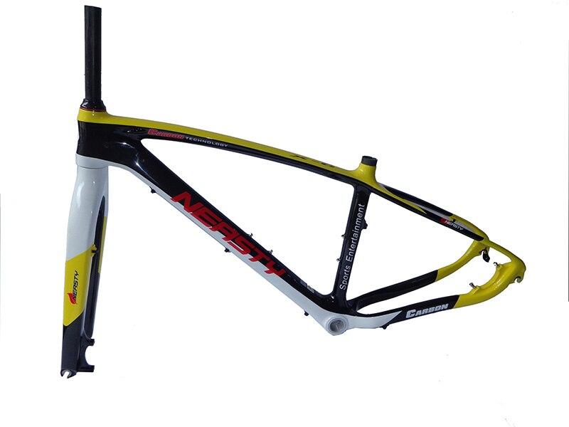 Hot! Carbon MTB  Bike Frame+Fork+headset 26er 15
