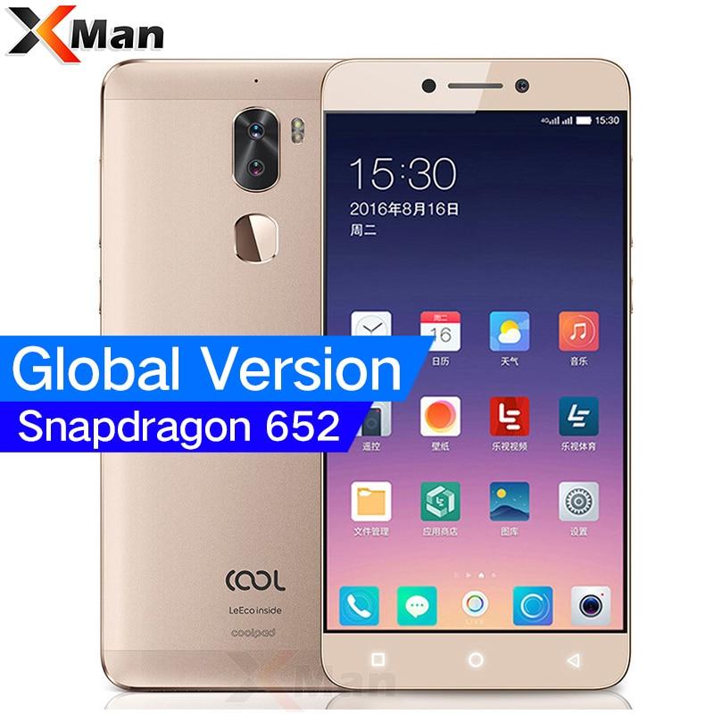Global Version Original Leeco Cool 1 Dual Letv Coolpad Cool 1 3GB/4GB RAM 32GB Snapdragon 652 Mobile Phone 5.5 13MP Dual Camera