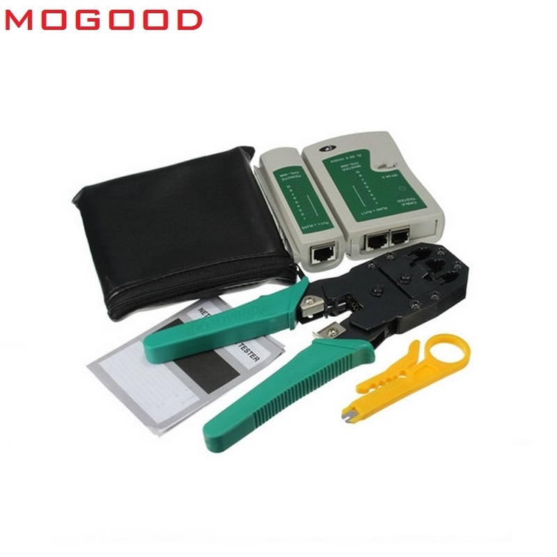 MoGood Network  Tool Cheaper, 3 In 1 Crimper Tool ,Cable Test, Wire Stripping Knife,  50 Pieces RJ-45 Connectors,