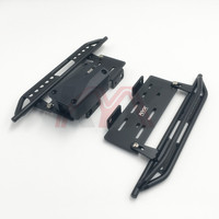 1pair Metal Side Pedal & Receiver Box For 1/10 Cherokee Wrangler Axial Scx10 90046 90047 90048 Side Pedal Foot Pedal