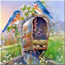 DIY 2018 New Crafts Diamond Embroidery Full Decorative Great Wall Painting Birds for Decoration