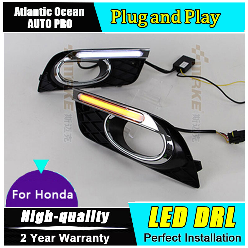 AUTO PRO 2012-2014 DRL For Civic LED daytime running light car styling For Civic LED guide DRL Fog lamp parking akd car styling led drl for kia k2 2012 2014 new rio eye brow light led external lamp signal parking accessories