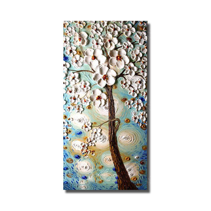 Paintbrush knife flower oil painting for home decor modern canvas paintbrush knife flower oil painting for home decor modern canvas art hand painted painting wholesale for sale no framed in painting calligraphy from home mightylinksfo Choice Image