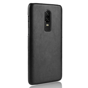 Image 4 - 30PCS Retro Ultra Thin Leather Skin Case For Oneplus 6 Business Style Case For Oneplus 6 Back Protector
