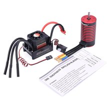 GTSKYTENRC Combo 3670 2050KV/2650KV Brushless Motor with Heat Sink 120A Electronic Speed Controller for 1/10 1/8 RC Car