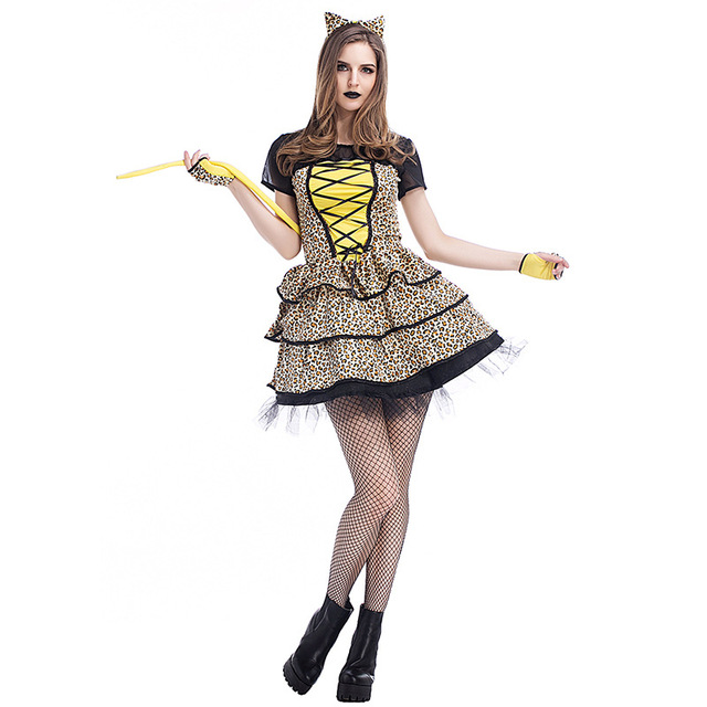 4f41243f951 Role Playing Game Leopard Tiger Lion Cat Cute Funny Animal Costumes Adult  Carnival Fancy Dress Sexy