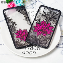 For Samsung Galaxy A7 2018 Case Soft Silicone Rose Flower Cover A750