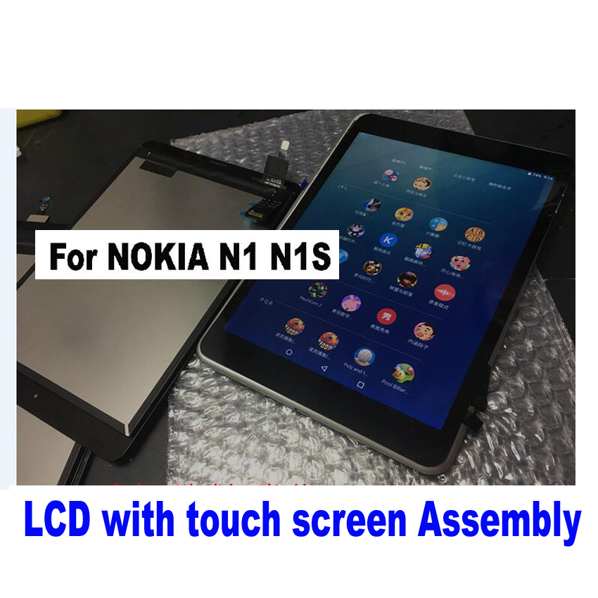 Best Working Black Full LCD Display Touch Screen Digitizer Assembly For Nokia N1 N1S Tablet Spare Parts 5 0 for nokia lumia 535 2s1973 and 2c1607 version full lcd display with touch screen digitizer assembly complete frame black