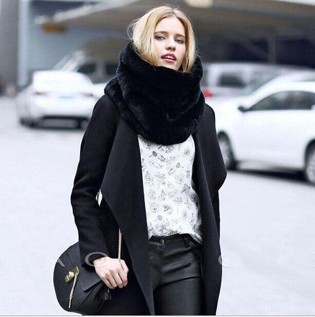 grande vendita 226fa 610d7 US $12.9 |Uomini e donne sciarpa di modo sciarpe inverno caldo scialle di  pelliccia finta collare in Uomini e donne sciarpa di modo sciarpe inverno  ...