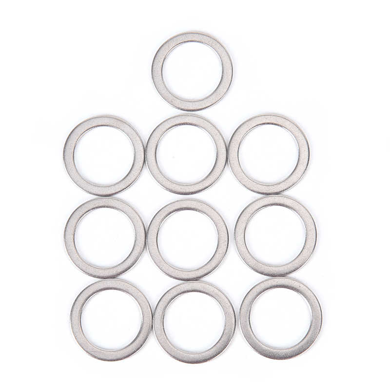 10Pcs Bicycle Pedal Spacer Crank Cycling Bike Stainless Steel Ring Washers ^P