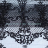 Black Ivory Off White Robin Sequins On Netting Embroidered Wedding Evinging Show Dress France Lace Fabric
