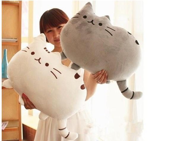 40 cm brinquedos de pelúcia grande Dakimakura boneca de pelúcia gato  preguiçoso gato lindo de pelúcia 63f40ffe176