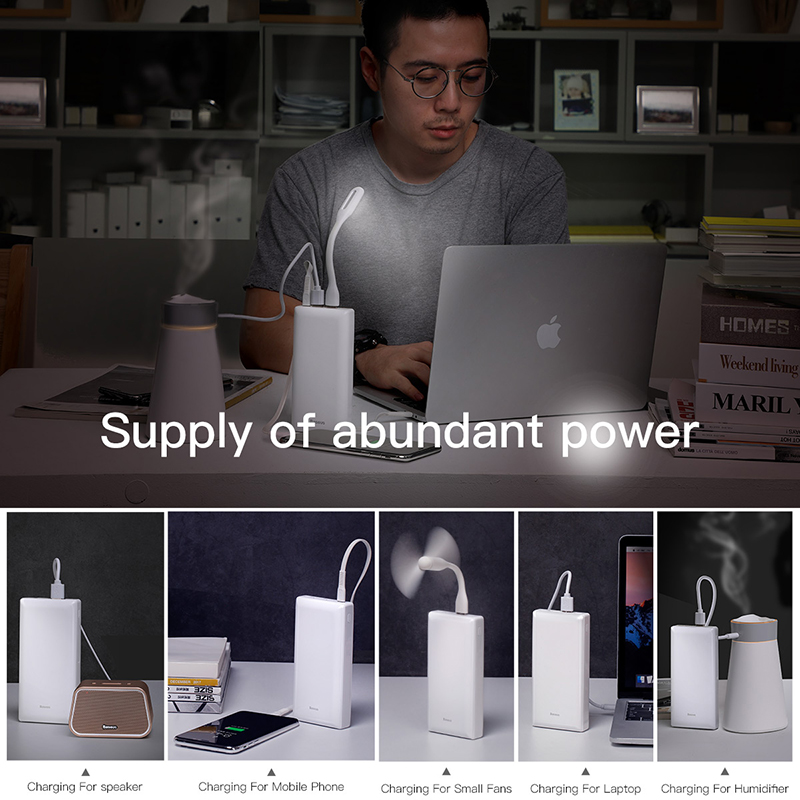 Image 4 - Baseus 30000mAh Power Bank PD USB C Fast Charging Powerbank for iPhone11 Samsung Huawei Type C Portable Charger External Battery-in Power Bank from Cellphones & Telecommunications