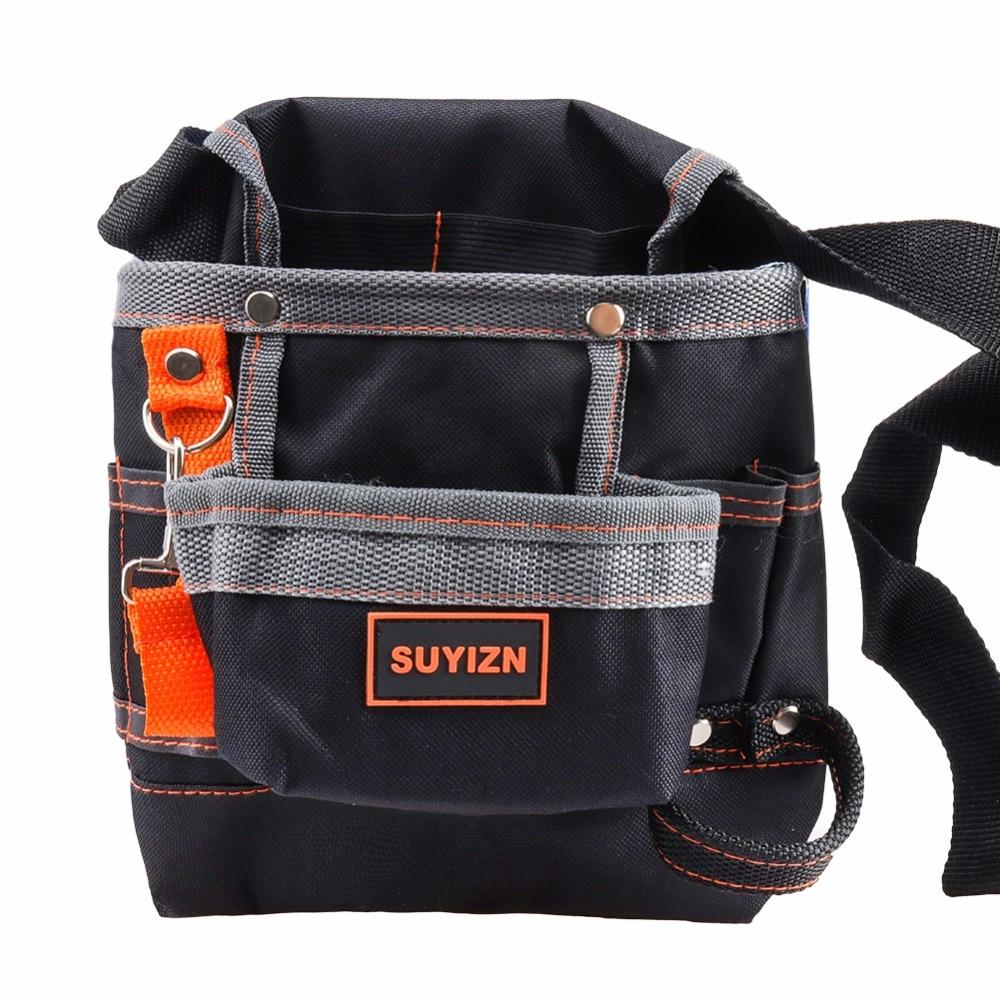 Portable Oxford Tool Bags Electrician Bag For Tool Storage 8 Pockets Construction Tools Waist Belt Tool Bag SUYIZN High Quality harga tas pinggang teknisi