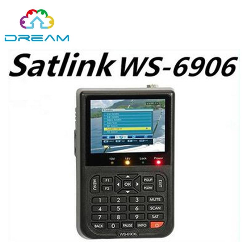 Original Satlink WS-6906 3.5 DVB-S FTA digital satellite meter sat finder ws 6906 satlink ws6906 free shipping post [genuine] satlink ws 6939 dvb s
