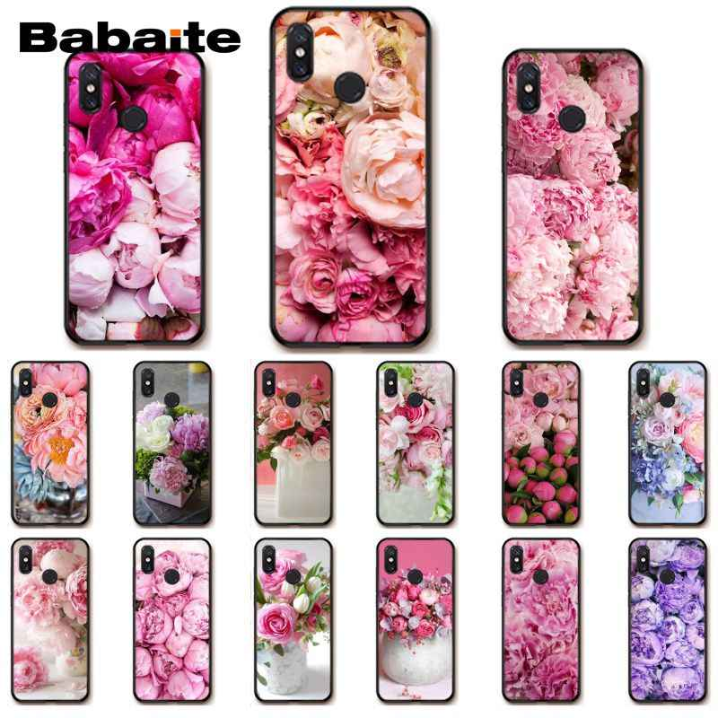 Babaite Elegant Pink Purple Peony On the Vase Phone Case for Xiaomi MiA1 A2 lite F1 Redmi 6A 4X 5Plus S2 Note7 Redmi Note4