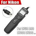 Disparar timer intervalómetro obturador teledirigido cable disparador para nikon d750 d7100 d7000 d5200 d5100 d5000 d90 d3200 d3100