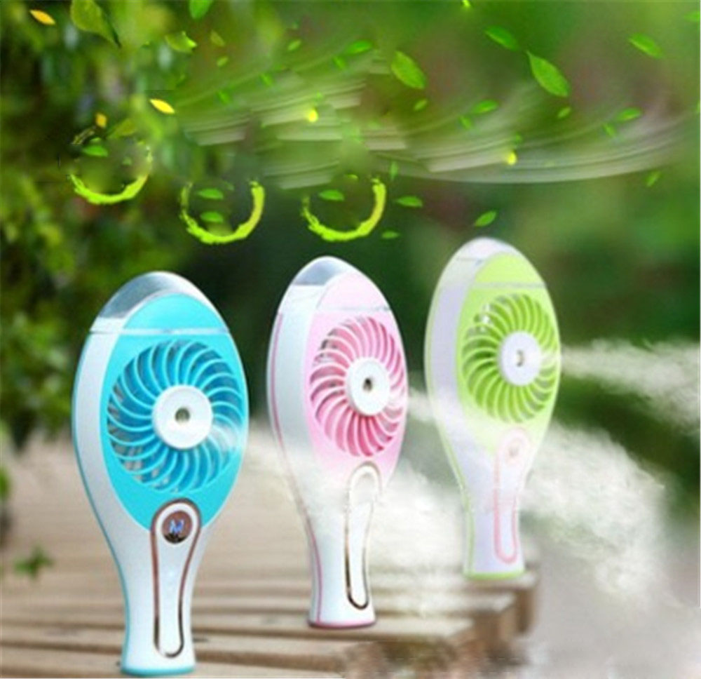 цены Portable Handheld USB Charge Mini Electric Fan Rechargeable Misting Mist Maker Humidifier Water Spray Fans Air Condition Cooler