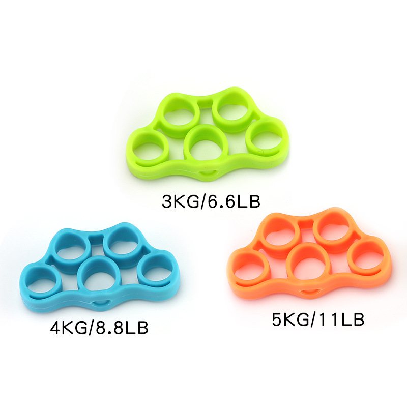 Anti Stress Toys Hand Gripper Strength Hand Toys Grip Finger Trainer Forearm Exercise Decompress Stress Reliever Squeeze Elastic