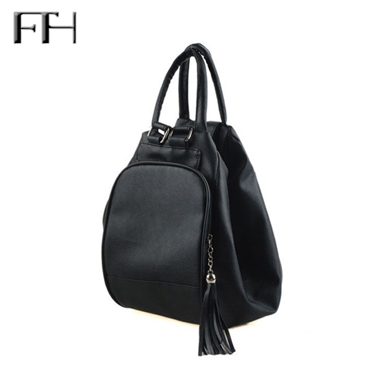 Practical women multifunctional Backpack female shoulder bag lady totes tassel pendant schoolbag for girls Package bolsa