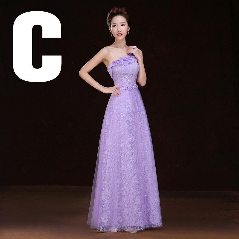 Famoso Vestido De La Dama De Honor De La Púrpura Real Modelo ...