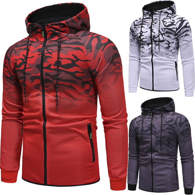 Stripe 3D Hoodie Stylish Hoodies Unisex color: Dark Grey|Red|White