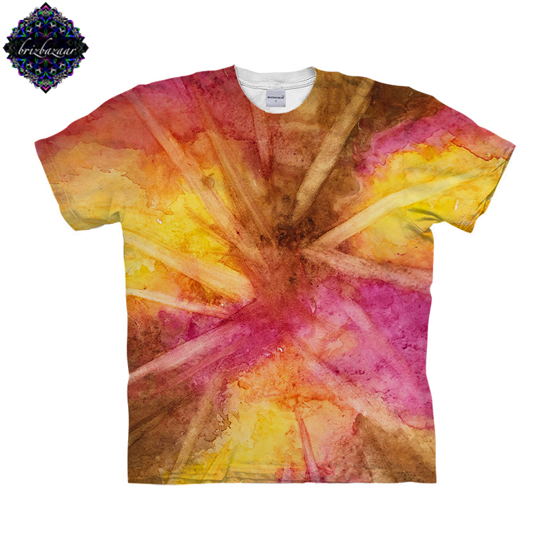 WarmWatercolor By Brizbazaar Art Unisex T shirt 3D Print Tees Tops Harajuku Mens Camiseta Short Sleeve Streetwear t shirt Male