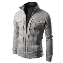 2017 New Men's Hoodies Zip-up Pockets Sweatshirts