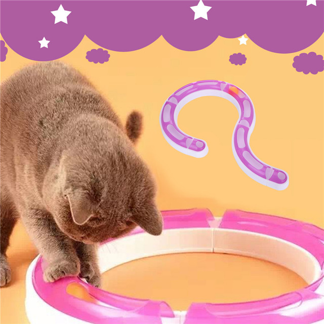 Pet Cats Toy Senses Scratch Roller Track Variety Combined Track and Ball Chase Exercise Toy Cat Training Tool Goods for cat