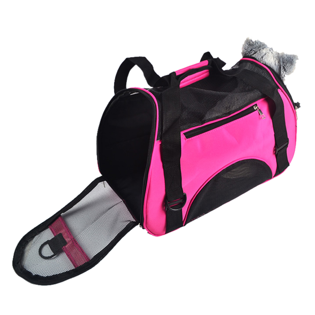 40*20*30 cm Soft &foldable Oxford carrying bags for dogs Comfort Travel sac transport chien Rose Red FREE POST