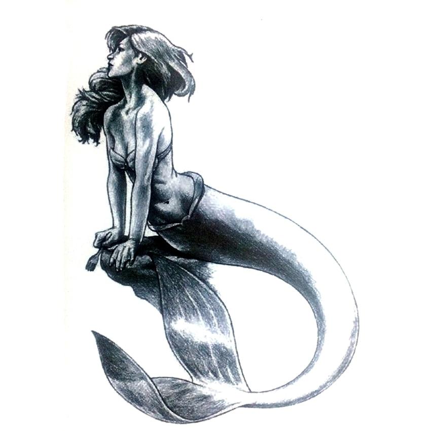 5pcs mermaid waterproof temporary tattoo sticker harajuku