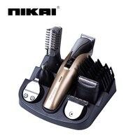6 In1 Electric Titanium Hair Cutting Machine Rechargeable Hair Clipper Hair Trimmer Beard Trimmer Hair Cut