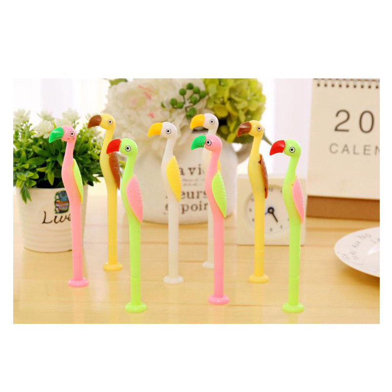 50 pcs/lot  lovely cute ostrich gel pen 0.38mm black link  kawii writing pens for school and  office material escolar