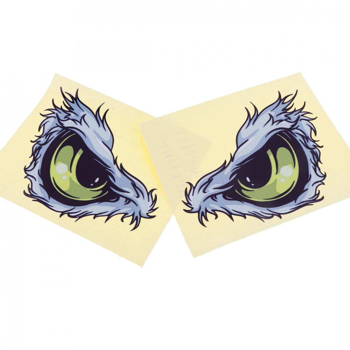 2pcs 3D 10 x 8CM Waterproof Reflective Material Eye Pattern Creative Funny Stereoscopic Car Sticker Accessories