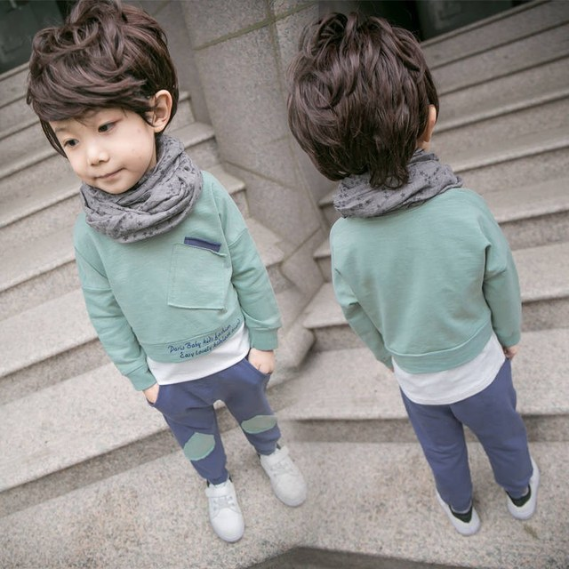 2PC Toddler Baby Boys Clothes Outfit Infant Boy Kids Shirt Tops+Pants Casual Clothing Autumn/Summer Children Clothing 1-4Years 4