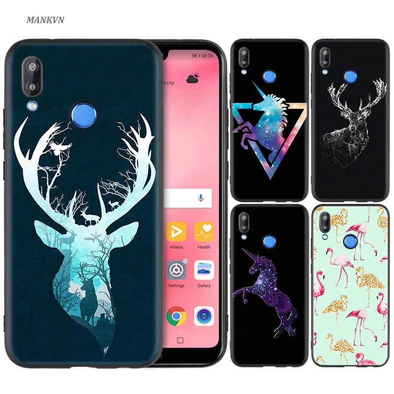 Silicone Case Cover for Huawei P20 P10 P9 P8 Lite Pro 2017 P Smart+ 2019 Nova 3i 3E Phone Shell Plane Unicorn Flamingo Deer Cat