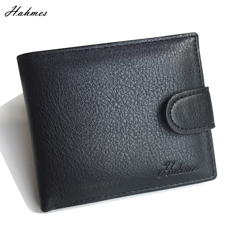 men's PU leather Wallet With coin bag male