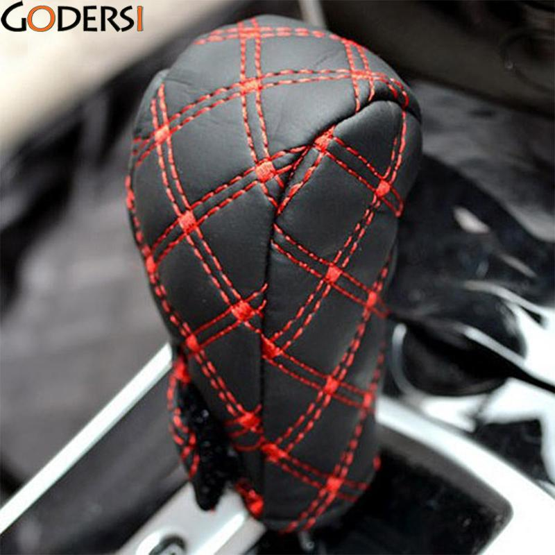 Godersi Universal PU Leather Crystal Auto Car Hand Brake Cover & Gear Shift Stick Cover Car Styling Accessories Handbrake Grips