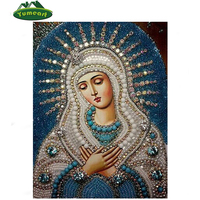 5d Diy Diamond Painting Crystal Orthodox Icon Figurine Decorative Cross Stitch Kit Crafts Fashion Religion Paintings
