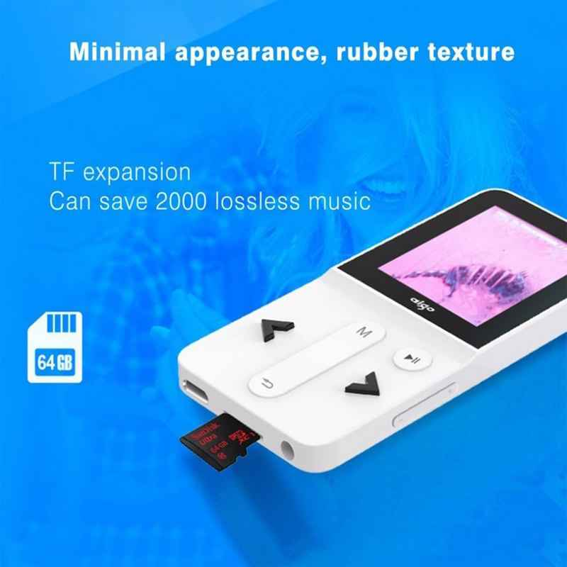AIGO 207 MP3 Player HIFI Mini Player Loseless Stereo Sport Portable Music TFT Screen Player Recording Function TF Card