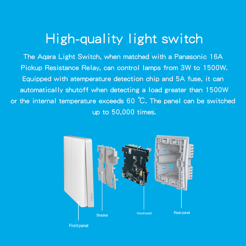 Xiaomi Aqara Smart Home ZiGBee Wireless Key Live & Neutral draht ...