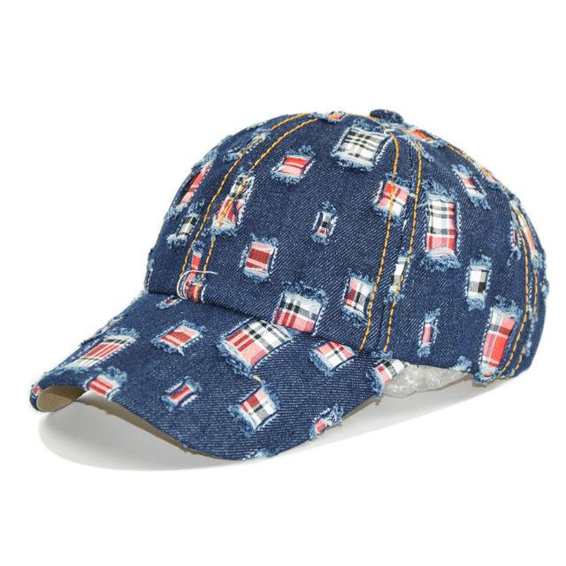 Tienda Online Nuevo unisex ripped Denim lavado gorra de béisbol ... 967edb06216