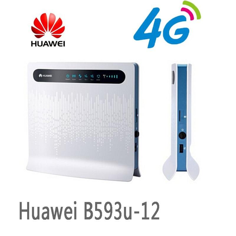 Huawei 100 Mbps Sans Fil Routeur 4G LTE Sans Fil CPE Routeur Passerelle 100 Mbps Mobile WiFi Hotspot Avec SIM Carte