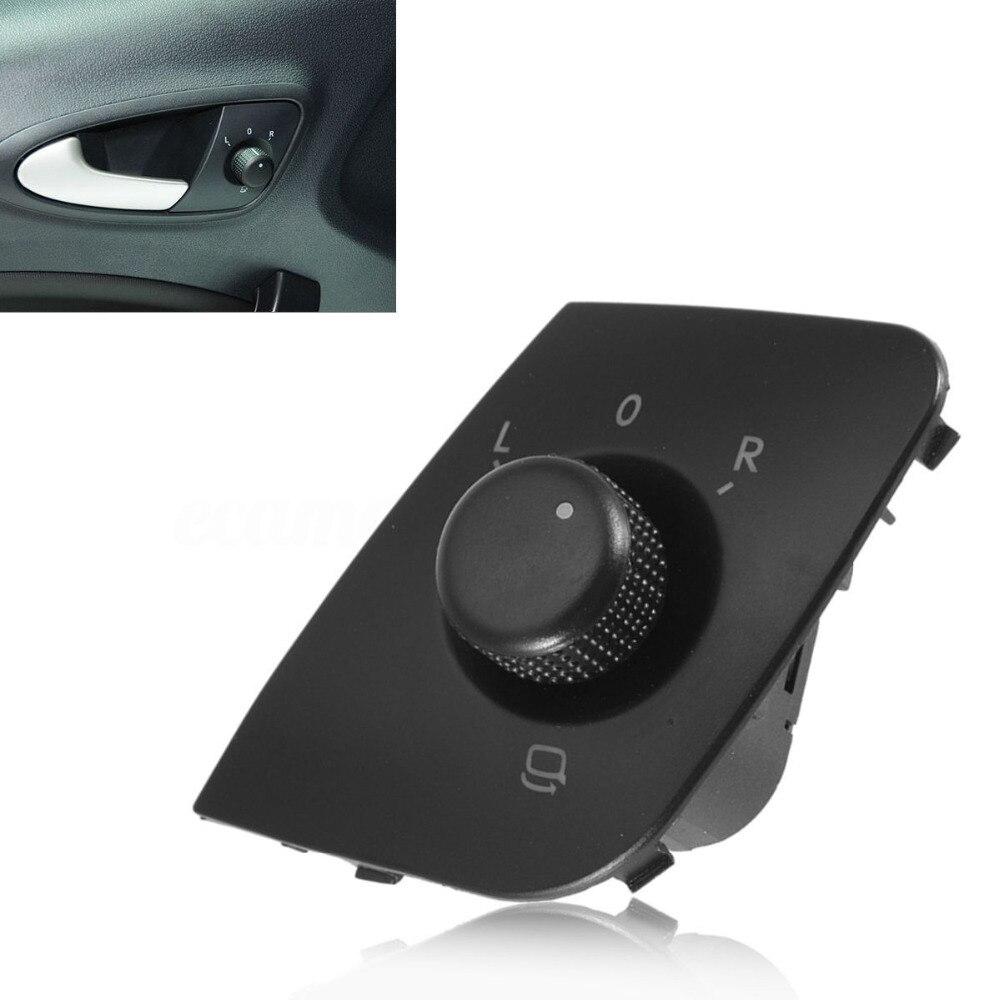 BBQ@FUKA Car Door Side Mirror Adjust Switch Control Knob Button For Seat Ibiza 2009-2015 #6J1959565 Car Accessary