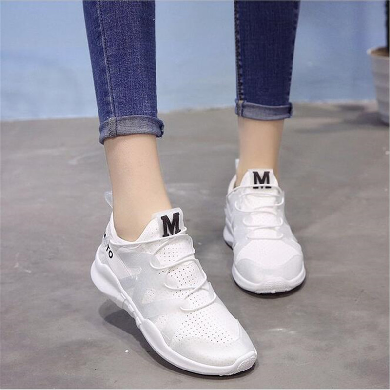 ELGEER Women Shoes 2018 fashion lace-up comfortable shoes woman breathable mesh women sneakers tenis feminino ladies shoes