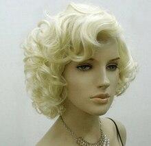 000014 Cosplay Party Wig Marilyn Monroe Short Wavy Full Wigs Fashion 5.3 women's peruca hair queen wigs