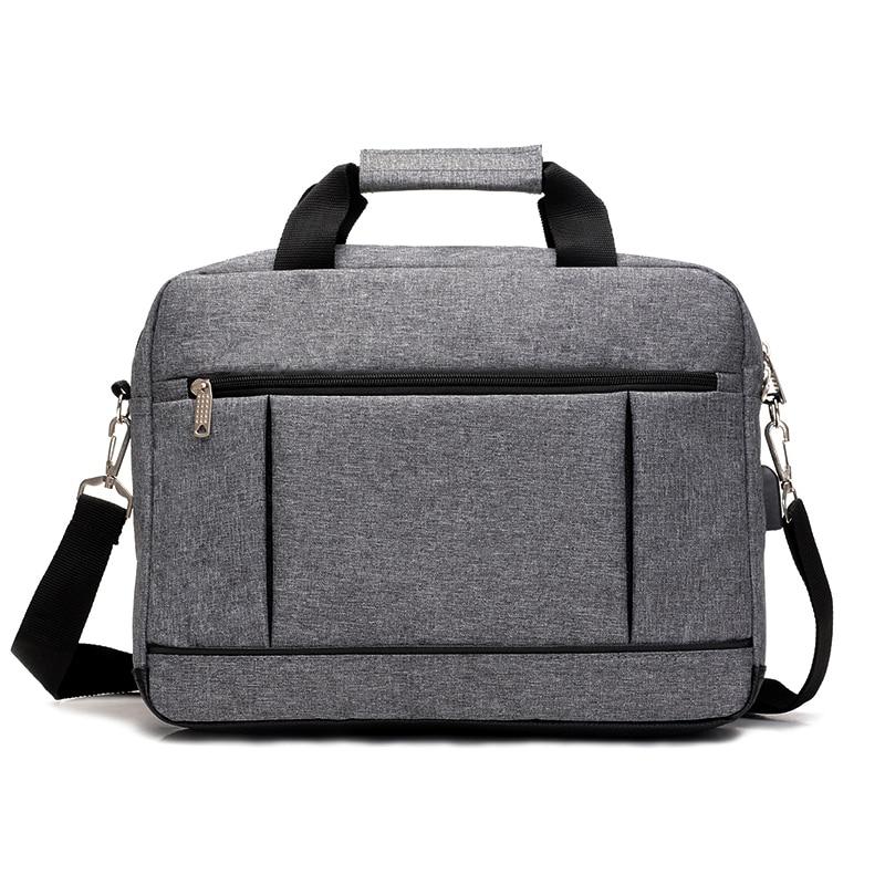 USB-laddningsdator Laptop Handväska Casual Mens Briefcases Företag - Portföljer