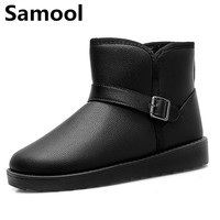 Unisex Winter Snow Boots Brand Ankle Rubber Boots Fashion Men Winter Shoes Cheap Men Winter Smooth